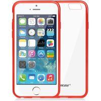 Jison Case, průhledný TPU obal pro iPhone 6, červený okraj