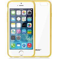 Jison Case, průhledný TPU obal pro iPhone 6, žlutý okraj