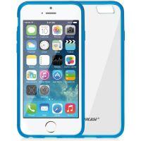 Jison Case, průhledný TPU obal pro iPhone 6, modrý okraj