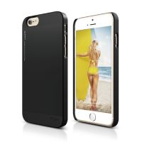 ELAGO S6 Outfit, tenký plastový obal pro iPhone 6, černo-černý