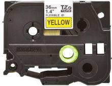 Brother - TZ-FX661,  žlutá / černá, 36 mm,  s flexibilní páskou