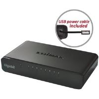 Edimax 8x 10/100/1000Mbps Switch, opt. power supply via USB cable (incl.)