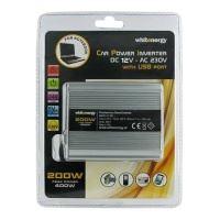 Napěťový měnič DC/AC 12V/230V 200W, USB