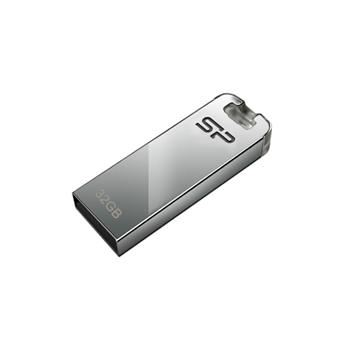 USB flash disk Silicon Power Touch T03, 32GB, USB 2.0, stříbrný