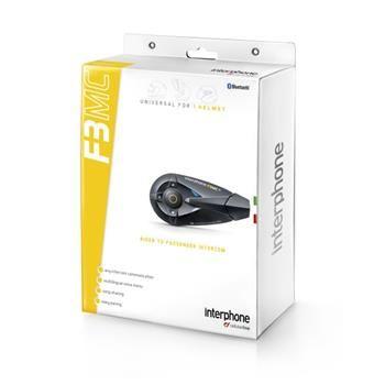 Bluetooth handsfree pro uzavřené a otevřené přilby CellularLine Interphone F3MC