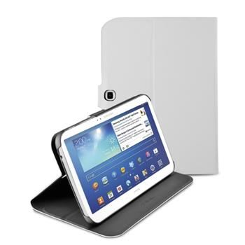 Pouzdro se stojánkem CellularLine Folio pro Samsung Galaxy Tab3 10.1, bílé