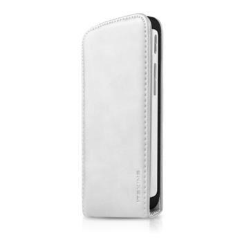 Pouzdro typu flap itSkins Milano Flap pro HTC One M8, PU kůže, bílé + folie
