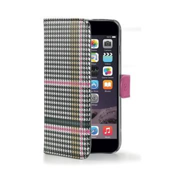 Pouzdro typu kniha CELLY Dandy pro Apple iPhone 6 Plus / 6S Plus, růžové