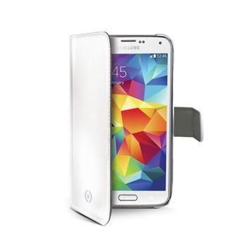 Pouzdro typu kniha CELLY Wally pro Samsung Galaxy S5 mini, PU kůže, bílé