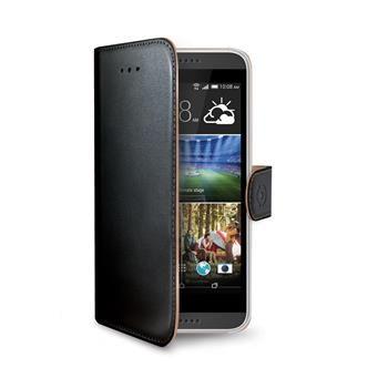 Pouzdro typu kniha CELLY Wally pro HTC Desire 620/Desire 620G, PU kůže, černé