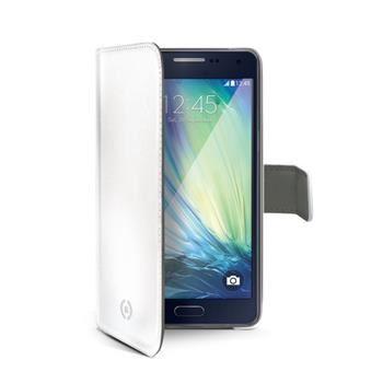 Pouzdro typu kniha CELLY Wally pro Samsung Galaxy A3, PU kůže, bílé