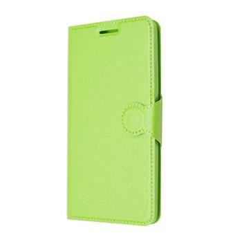 Pouzdro typu kniha FIXED s gelovou vaničkou pro Lenovo A6000, zelené