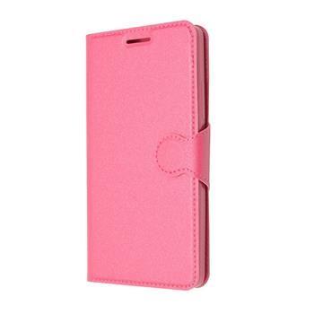 Pouzdro typu kniha FIXED s gelovou vaničkou pro Lenovo A6000, růžové