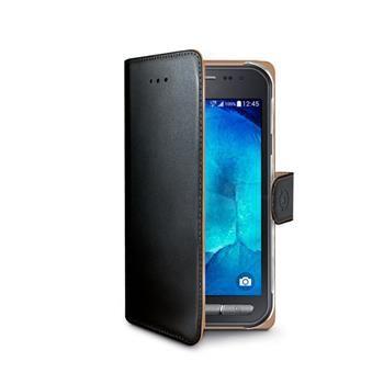 Pouzdro typu kniha CELLY Wally pro Samsung Galaxy Xcover 3, PU kůže, černé