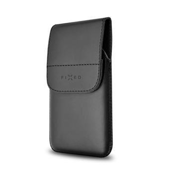 Pouzdro FIXED Pocket s klipem, PU kůže, velikost 5XL, černé matné
