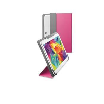 """Univerzální pouzdro se stojánkem CellularLine FLEXY pro tablety Samsung do velikosti 10,5"""", růžové"""