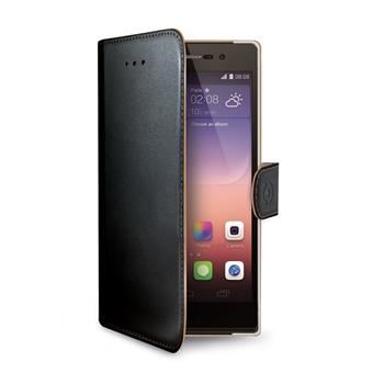 Pouzdro typu kniha CELLY Wally pro Huawei P8, PU kůže, černé