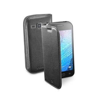 Pouzdro typu kniha CellularLine Book Essential pro Samsung Galaxy J1, černé