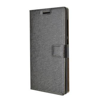 Pouzdro typu kniha FIXED s gelovou vaničkou pro Microsoft Lumia 550, černé