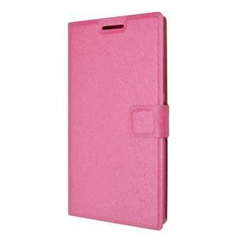 Pouzdro typu kniha FIXED s gelovou vaničkou pro Lenovo P70, růžové