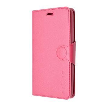 Pouzdro typu kniha FIXED s gelovou vaničkou pro Huawei P8 Lite, růžové