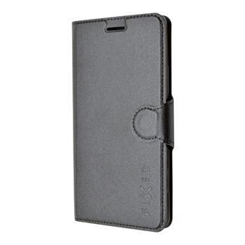 Pouzdro typu kniha FIXED s gelovou vaničkou pro Lenovo A7000, černé