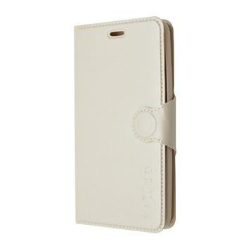 Pouzdro typu kniha FIXED s gelovou vaničkou pro Samsung Galaxy J5, bílé