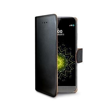 Pouzdro typu kniha CELLY Wally pro LG G5, PU kůže, černé