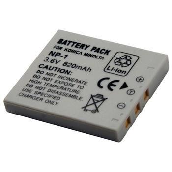 Baterie Extreme Energy typ Minolta NP-1, Li-Ion 820 mAh, šedá