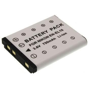 Baterie Extreme Energy typ Nikon EN-EL10, 750 mAh, Li-Ion, černá