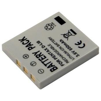 Baterie Extreme Energy typ Pentax D-LI8, Li-Ion 650 mAh, šedá