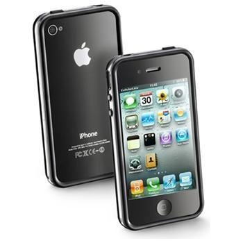 Ochranný rámeček CellularLine Bumper pro Apple iPhone 4, kryt na rohy + fólie na přední a zadní stranu, černý