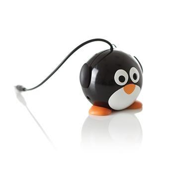 Reproduktor KITSOUND Mini Buddy Penguin, 3,5 mm jack