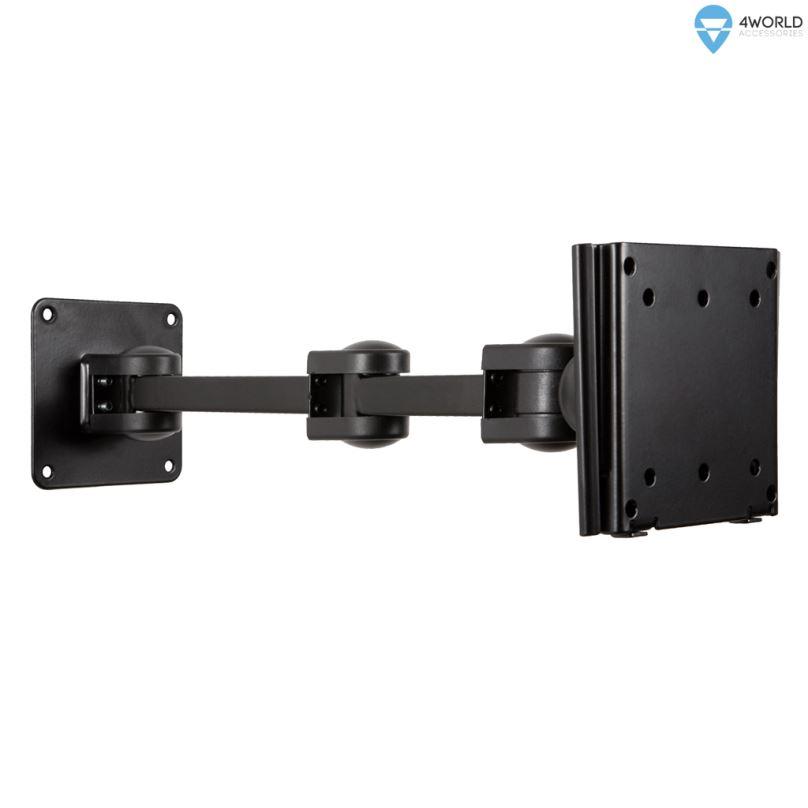 """4W Držák LCD 10-32"""" jednoramenný otočný sklopný BL"""