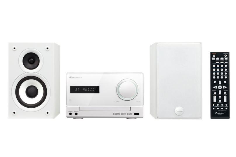 Pioneer systém s CD,DVD,USB a Bluetooth, bílý