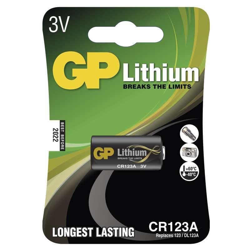 Baterie GP CR123A - 1ks