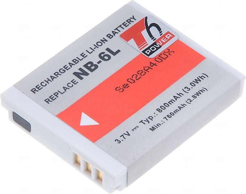 Baterie T6 power Canon NB-6L, 800mAh, šedá