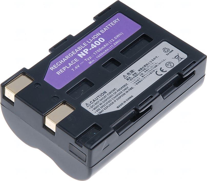 Baterie T6 power Minolta NP-400, D-Li50, 1700mAh, černá