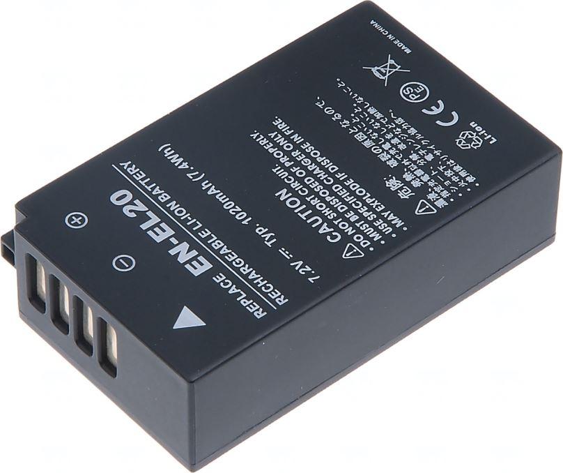 Baterie T6 power Nikon EN-EL20, 1500mAh, černá