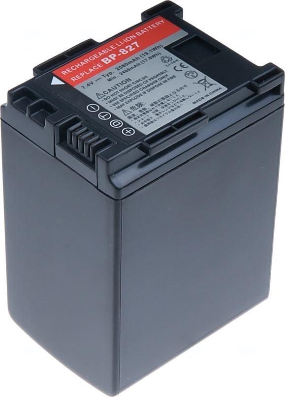 Baterie T6 power Canon BP-827, 2580mAh, černá