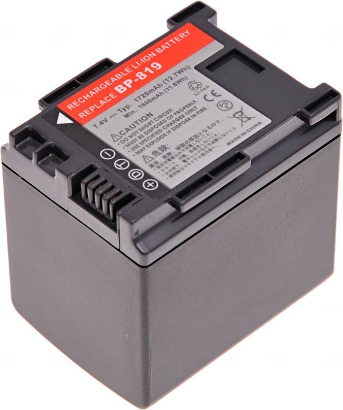 Baterie T6 power Canon BP-819, BP-808, BP-809, 1720mAh, černá