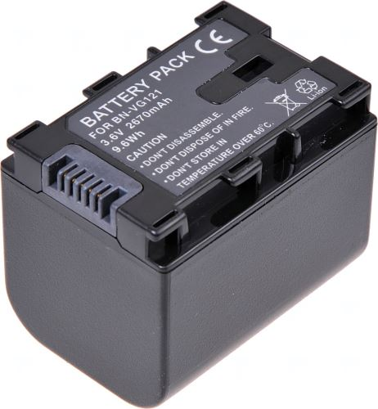 Baterie T6 power JVC BN-VG121, 2670mAh, černá