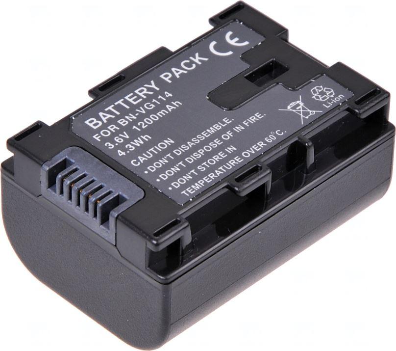 Baterie T6 power JVC BN-VG107, BN-VG108, BN-VG114, 1200mAh, černá