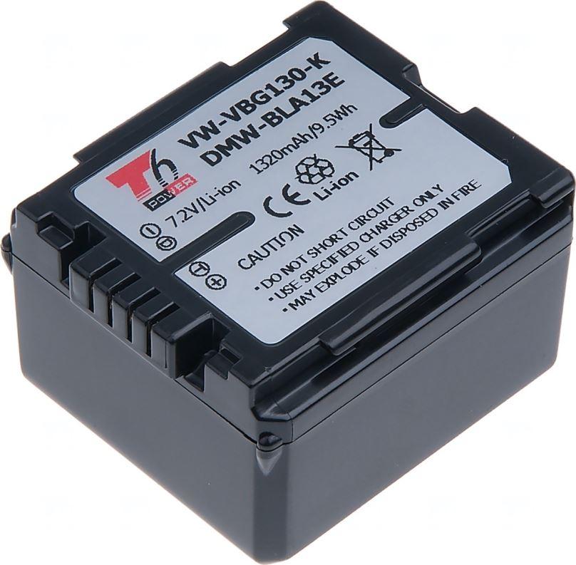 Baterie T6 power Panasonic VW-VBG130, 1320mAh, černá