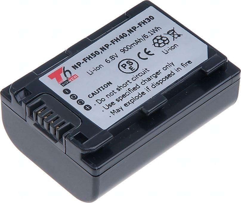 Baterie T6 power Sony NP-FH50, 750mAh, šedá