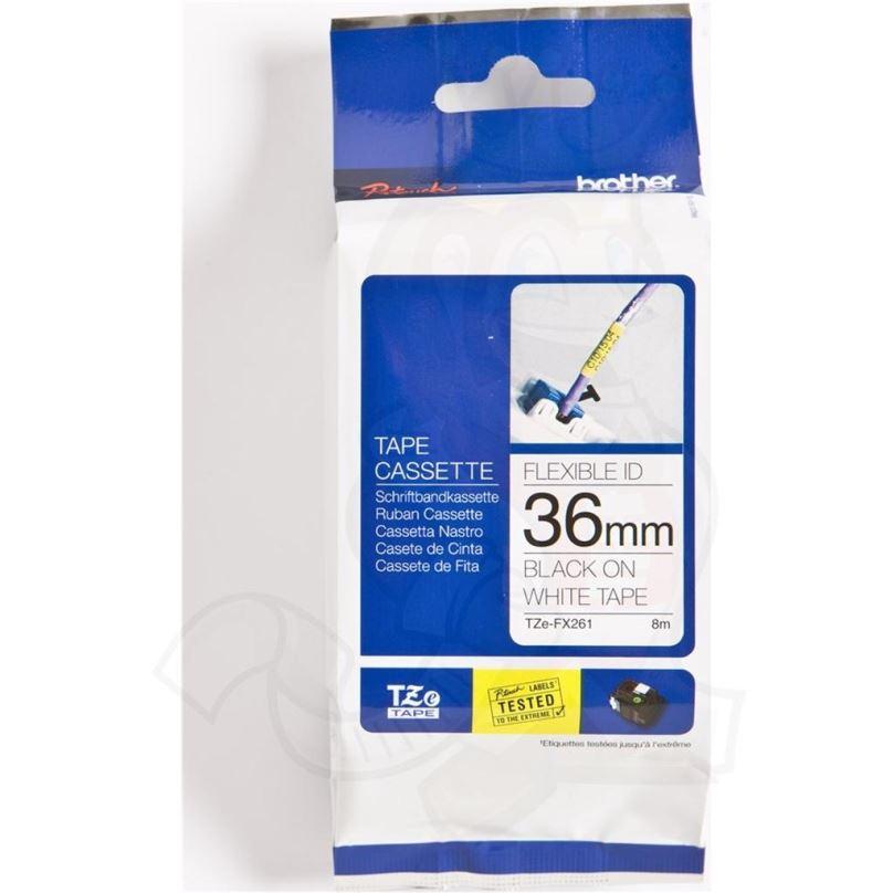 TZE-FX611, žlutá / černá, 6mm