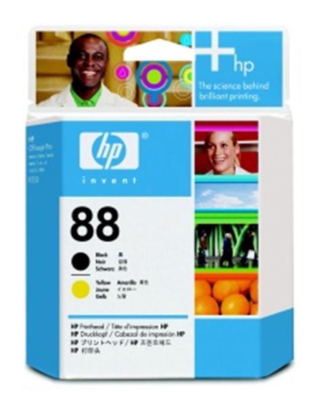 HP 88 - černá a žlutá tisková hlava, C9381A