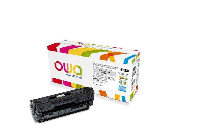 ARMOR toner černý K15116 (Q2612A) 4000 str. pro tiskárny HP Laserjet 1010, 1012. JUMBO + 75%