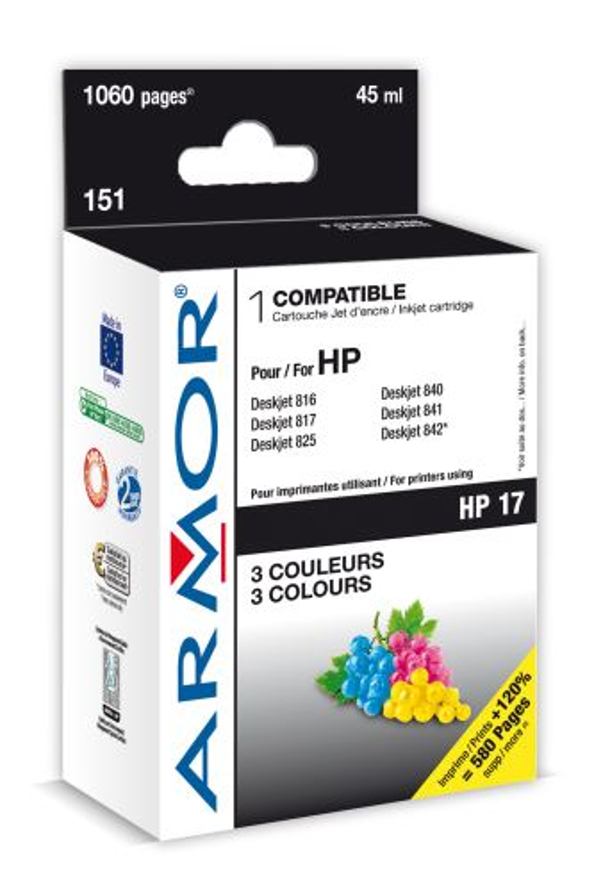 Armor ink-jet pro HP DJ 840, 3 barvy 30ml (C6625A)