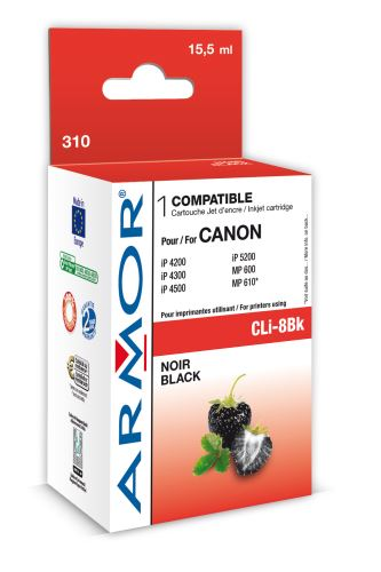 Armor ink-jet pro Canon iP4200, 16ml(CLI8Bk), čip